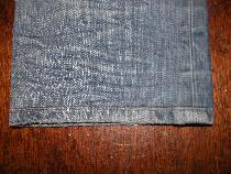 Denim Jean Alteration Retro Vintage Finish